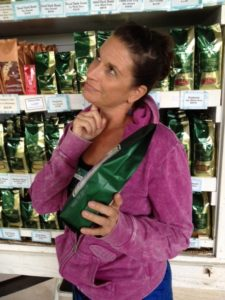 Buying Kona Coffee at the Store