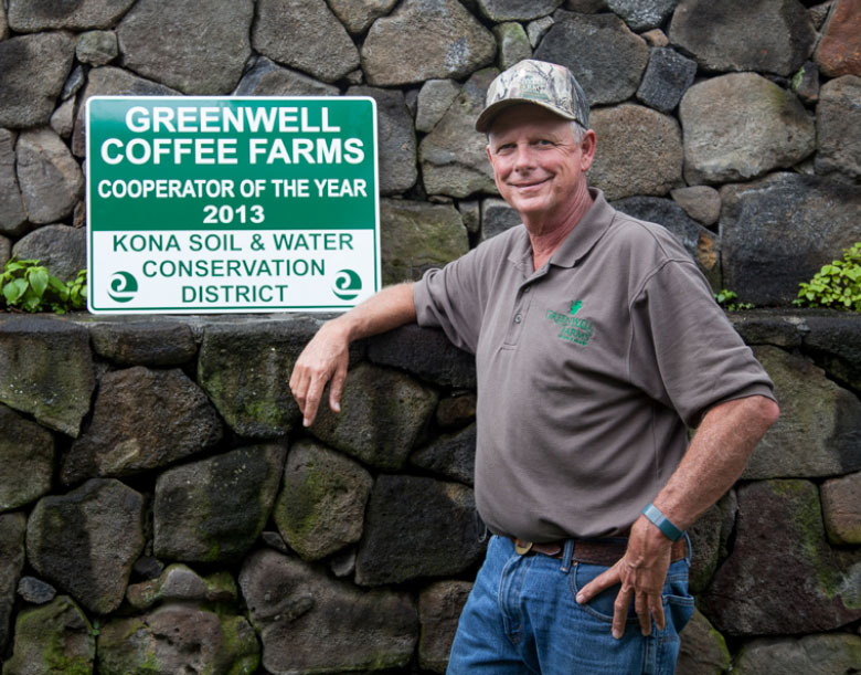 Tom at Kona Soil & Water Conservation District