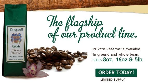 Greenwell Private Reserve label coffee