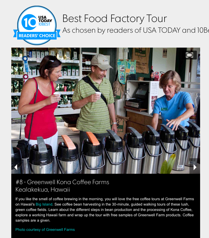 USA Today Ranks Greenwell Farms Top 10 Best Food Factory Tour