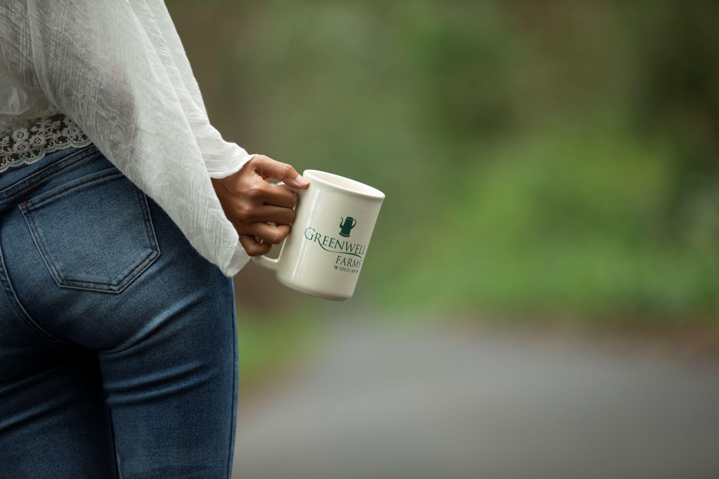 Wife Drinking Kona Coffee